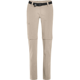 Maier Sports Inara Slim Pantalon convertible avec fermeture éclair Femme, feather gray